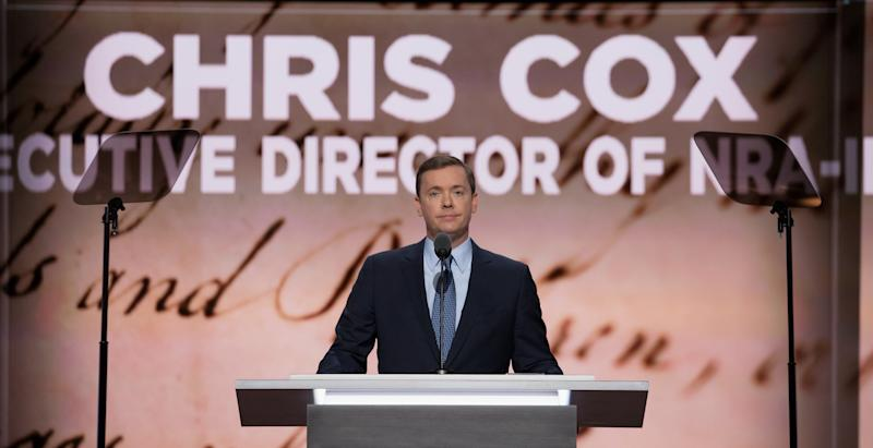 Chris Cox of the NRA speaks at the Republican National Convention in Cleveland, Ohio on July 19, 2016. (Tasos Katopodis via Getty Images)