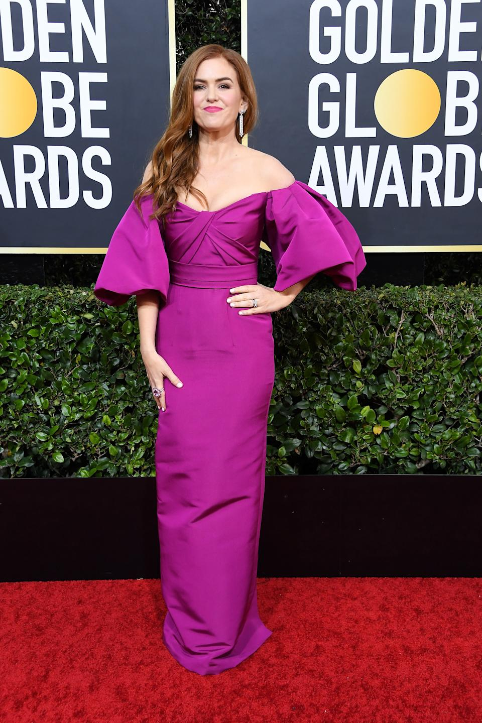 "<h1 class=""title"">Isla Fisher in Monique Lhuillier</h1><cite class=""credit"">Photo: Getty Images</cite>"