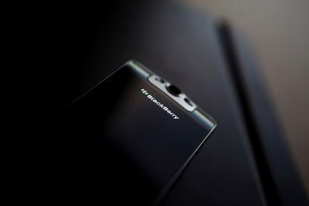 A posed Blackberry smartphone is seen at the Research in Motion (RIM) headquarters in Waterloo