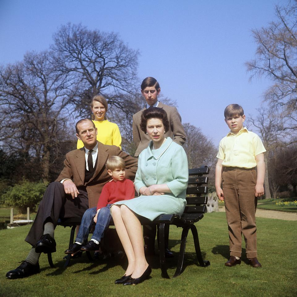 File photo dated 21/04/68 of (left to right) the Duke of Edinburgh, the Princess Royal, the Earl of Wessex, the Prince of Wales, Queen Elizabeth II and the Duke of York at Frogmore Cottage. A groundbreaking fly-on-the wall documentary about the royal family from 1969 - which had been hidden for 50 years - has resurfaced in full on the internet before being swiftly removed.. Issue date: Thursday January 28, 2021. Royal fans were able to view the entire 105-minute BBC programme on YouTube for the first time since it was withdrawn from use in the early 1970s. See PA story ROYAL Documentary. Photo credit should read: PA/PA Wire
