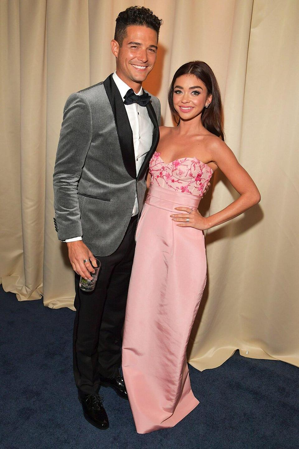 Sarah Hyland and Wells Adams Take the TikTok Couples Challenge: 'Poor Man's J.Lo and A-Rod'