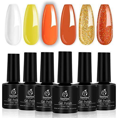 """<p><strong>beetles Gel Polish</strong></p><p>amazon.com</p><p><strong>$11.99</strong></p><p><a href=""""https://www.amazon.com/dp/B07TYXQJZR?tag=syn-yahoo-20&ascsubtag=%5Bartid%7C10050.g.33512580%5Bsrc%7Cyahoo-us"""" rel=""""nofollow noopener"""" target=""""_blank"""" data-ylk=""""slk:Shop Now"""" class=""""link rapid-noclick-resp"""">Shop Now</a></p><p>For a simple manicure, this gel polish collection is all you need. We adore the candy corn colors!</p>"""