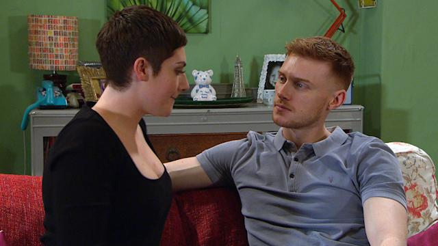 Victoria Sugden [ISABEL HODGINS] and Luke Posner [MAX PARKER] return to Keepers and grow closer. Victoria asks Luke if he fancies an Ôearly nightÕ. (ITV Plc)