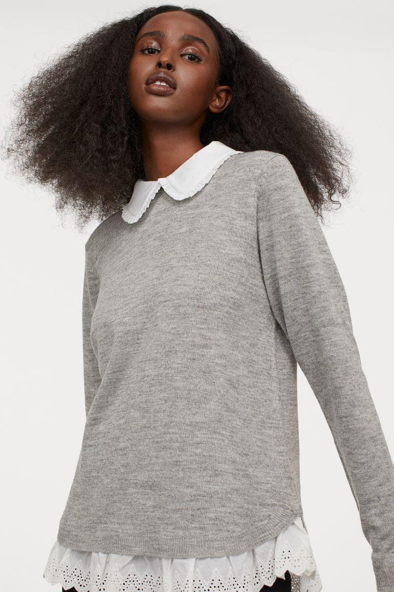 <p>This <span>H&M Collar-detail Sweater</span> ($40) is so sweet, and looks very professional.</p>