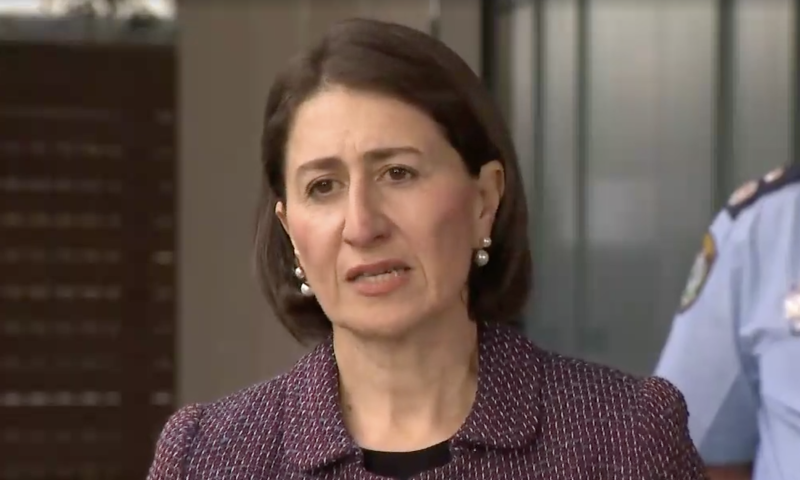 Gladys Berejiklian made the announcement on Tuesday morning. Source: Nine