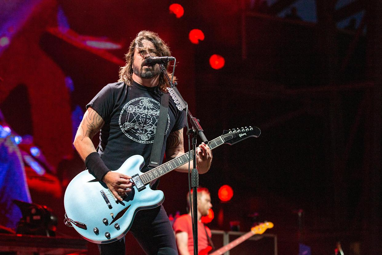 Dave Grohl of Foo Fighters during the Sonic Temple Music Festival on May, 19 2019, in Columbus, Ohio (Photo by Daniel DeSlover/Sipa USA)