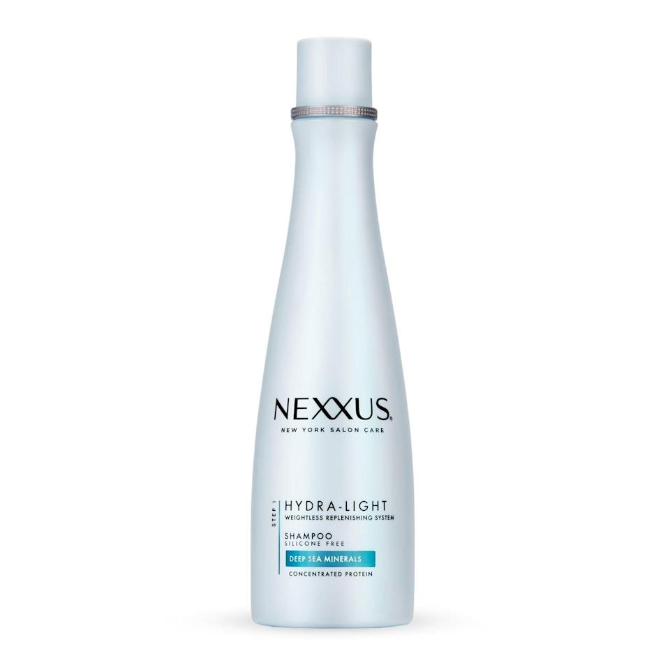 <p><span>Nexxus Hydra Light Weightless Moisture Rebalancing Shampoo</span> ($12) is enriched with deep-sea minerals and specifically crafted for fine hair. It lightly cleanses without weighing hair down, helping avoid that flat, greasy look common in oily hair.</p>