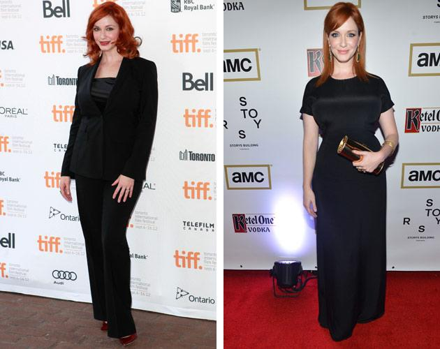 "Christina Hendricks kept us in ginger goodness for two days at the beginning of TIFF 2012. The ""Mad Men"" star arrived for the first day of the fest to be part of Jason Reitman's live table read of ""American Beauty."" The next day, she gamely posed once again on the red carpet for the aptly titled drama ""Ginger & Rosa,"" in which she co-stars with Elle Fanning."