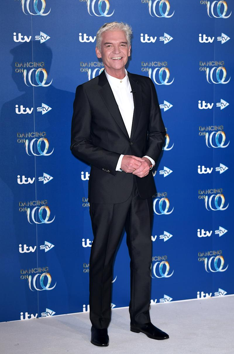Phillip Schofield attends the Dancing On Ice 2019 photocall at the Dancing On Ice Studio, ITV Studios, Old Bovingdon Airfield on December 09, 2019 in Bovingdon, England. (Photo by Karwai Tang/WireImage)