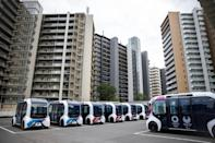 Autonomous electric vehicles will be used at the Olympic Village