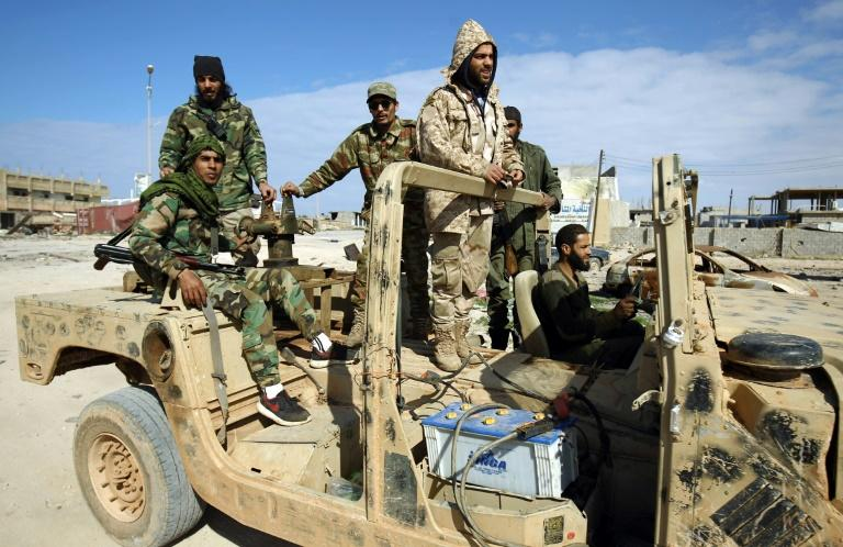 Clashes erupted in south Libya after the self-proclaimed Libyan National Army (pictured), loyal to eastern authorities, battled to seize the Tamenhant air base from militias backing the GNA