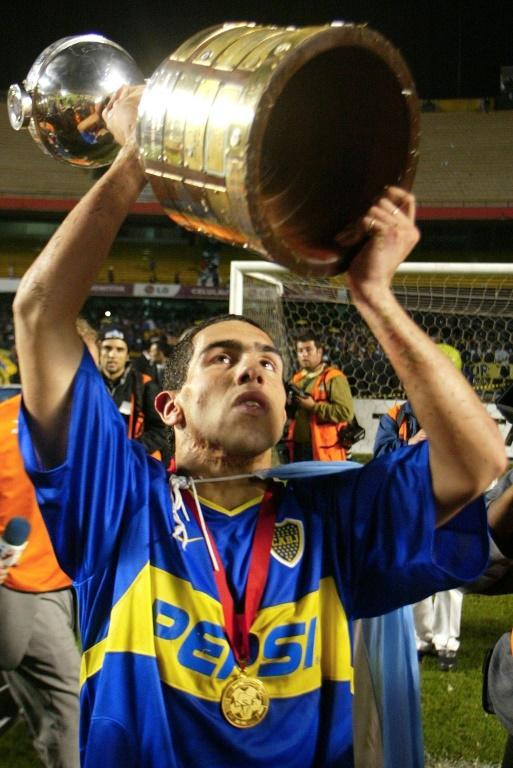 Carlos Tevez lifted the biggest club trophy in South America, the Copa Libertadores, as a 19-year-old with Boca in 2003