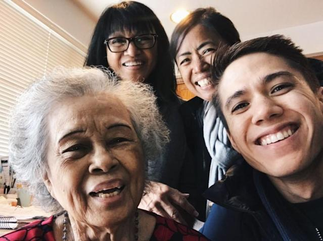 <p>Three-time Olympian J.R. Celski takes a selfie with his mother, aunt and grandmother. Celski will compete in short track speed skating events in PyeongChang.(Instagram | @celskeet ) </p>