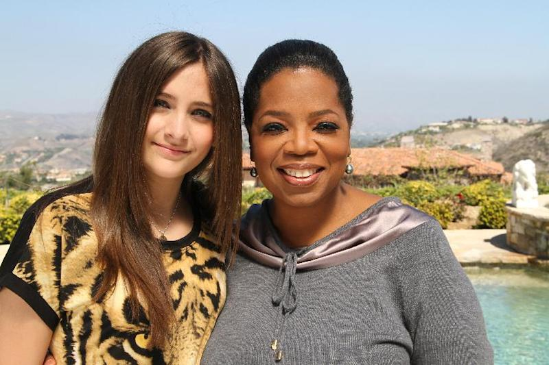 "FILE - This undated image originally released by Harpo, Inc. shows host Oprah Winfrey posing with Paris Jackson, daughter of the late pop icon Michael Jackson in Los Angeles. Winfrey interviewed Jackson for an ""Oprah's Next Chapter,"" special which aired on June 10 on OWN. (AP Photo/Harpo Inc., George Burns)"