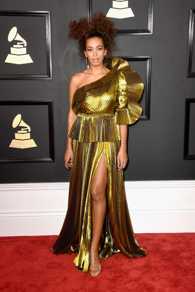 Solange Knowles in Gucci. (Photo: Getty Images)