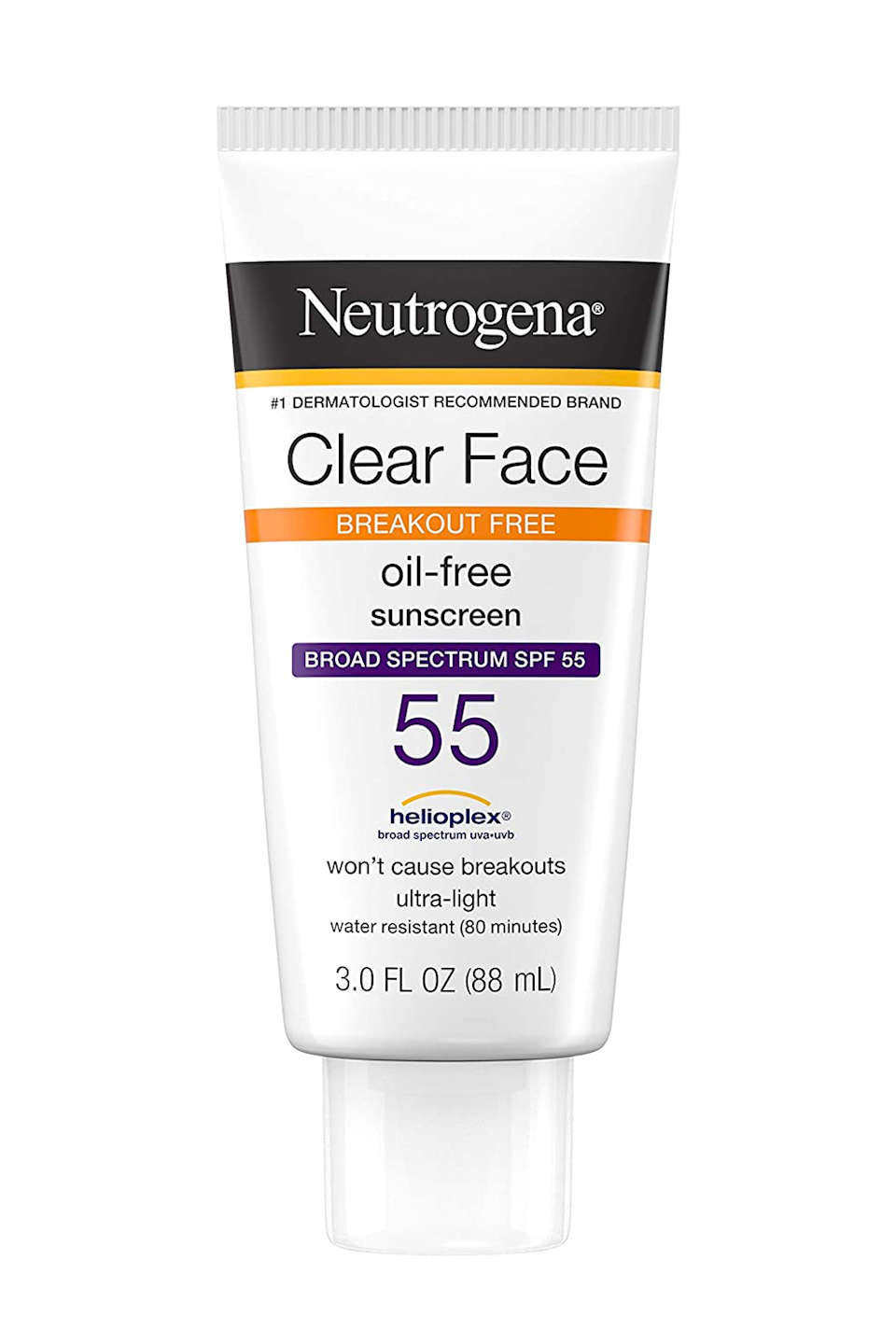 """<p><strong>Neutrogena</strong></p><p>amazon.com</p><p><strong>$10.97</strong></p><p><a href=""""https://www.amazon.com/dp/B004D2826K?tag=syn-yahoo-20&ascsubtag=%5Bartid%7C10049.g.35863427%5Bsrc%7Cyahoo-us"""" rel=""""nofollow noopener"""" target=""""_blank"""" data-ylk=""""slk:Shop Now"""" class=""""link rapid-noclick-resp"""">Shop Now</a></p><p>Even though the majority of sunscreens can irritate <a href=""""https://www.cosmopolitan.com/style-beauty/beauty/a30420426/cosmopolitan-acne-newsletter/"""" rel=""""nofollow noopener"""" target=""""_blank"""" data-ylk=""""slk:acne-prone skin"""" class=""""link rapid-noclick-resp"""">acne-prone skin</a> (see: clogged pores and <em>more</em> zits and breakouts), this drugstore formula is a safe bet. It's oil-free, lightweight, and it <strong>l</strong><strong>eaves you with a matte, water-resistant finish</strong> for up to 80 minutes (after which you'll need to reapply it, btw).</p>"""
