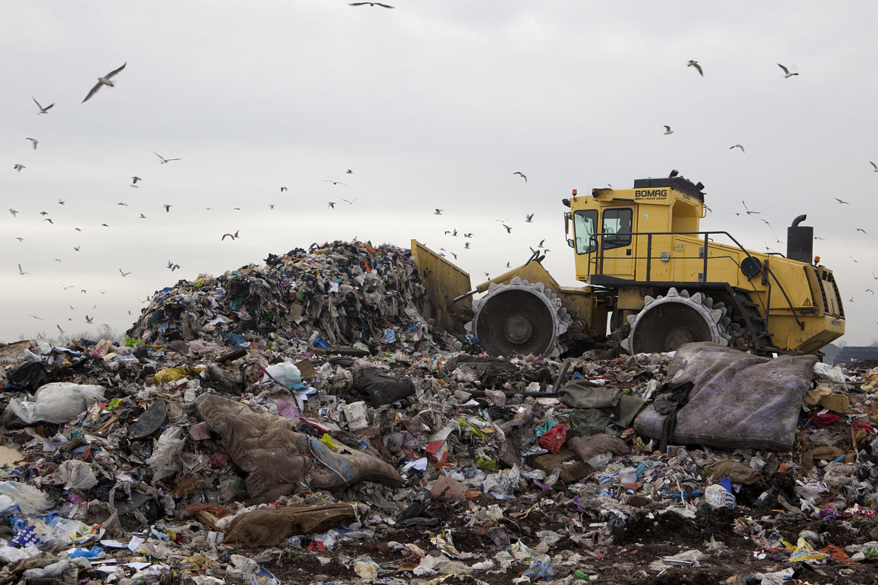 <p>£17,591 annual salary, 33 deaths: Operating bulldozers and other big machinery on landfill sites, or driving refuse vehicles has resulted in more than 30 deaths between 2011 and 2016 (Newscast/UIG via Getty Images) </p>