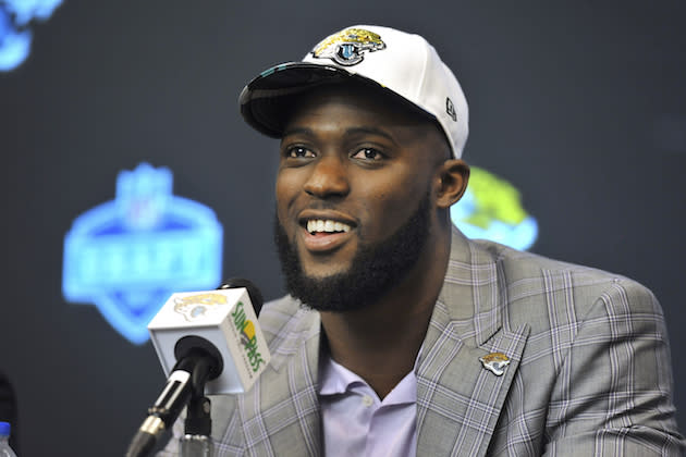 On volume alone, Leonard Fournette should lead the fantasy rookie pack in 2017. (AP)
