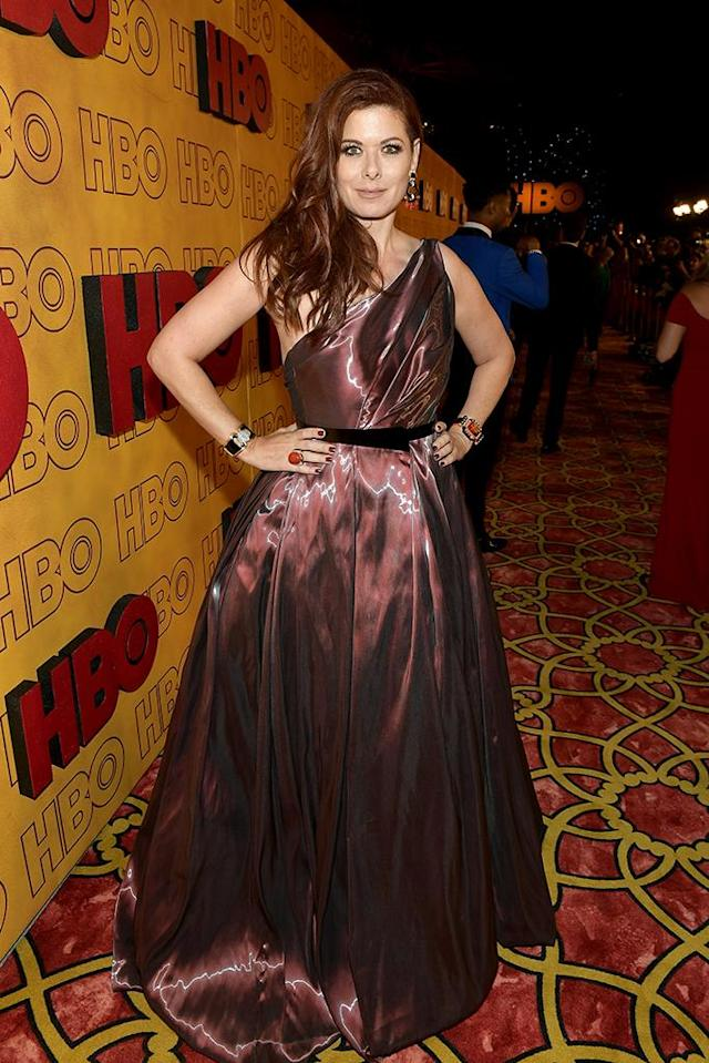 <p>Debra Messing, who has been hard at work on the <em>Will & Grace</em> reboot, attended the HBO party. (Photo: Matt Winkelmeyer/Getty Images) </p>