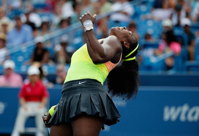 Serena Williams enters the US Open making a case for herself not only as the greatest women's tennis player in history, but possibly the greatest woman in sports history (AFP Photo/Rob Carr)