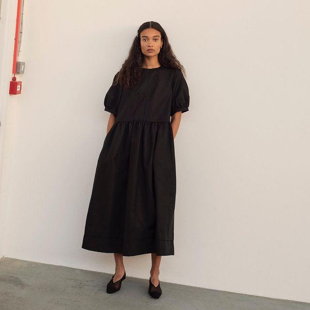 """<p>&Daughter, a family-run brand founded by designer Buffy Reid and her father Colomba, designs with longevity in mind, evident in its classic knits and breezy smock dresses. </p><p>It produces those signature styles with local craftspeople, creating the knitwear using 100% natural yarns sourced locally from expert spinners in the UK and Ireland. Each piece is then hand-finished. </p><p>The signature smock dresses are made with the same care – and they're the perfect shape for lounging, whether we're confined to the house, or outdoors, while looking we've made an effort. Sold.</p><p><a class=""""link rapid-noclick-resp"""" href=""""https://www.net-a-porter.com/en-gb/shop/designer/anddaughter"""" rel=""""nofollow noopener"""" target=""""_blank"""" data-ylk=""""slk:SHOP &DAUGHTER NOW"""">SHOP &DAUGHTER NOW</a></p><p><a href=""""https://www.instagram.com/p/B-8-Rq3gclw/"""" rel=""""nofollow noopener"""" target=""""_blank"""" data-ylk=""""slk:See the original post on Instagram"""" class=""""link rapid-noclick-resp"""">See the original post on Instagram</a></p>"""