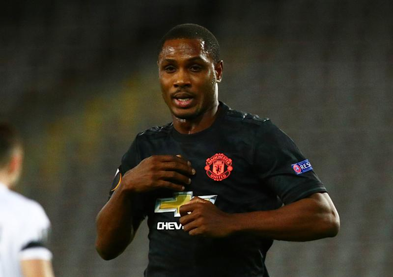 Up in the air: Ighalo is waiting to see whether his Man Utd future will continue beyond May (REUTERS)