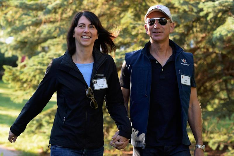 Jeff Bezos, founder and CEO Amazon.com, and his wife Mackenzie Bezos are splitting up (Getty Images)