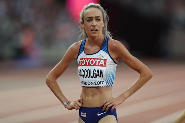 Eilish McColgan of Great Britain competes in the Women's 5000m final at the IAAF World Athletics Championships London 2017. (Credit: Getty Images)