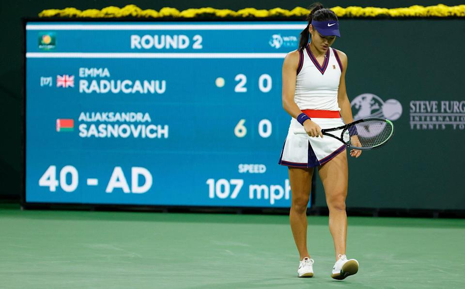 Raducanu started poorly and quickly lost the first set - GETTY IMAGES