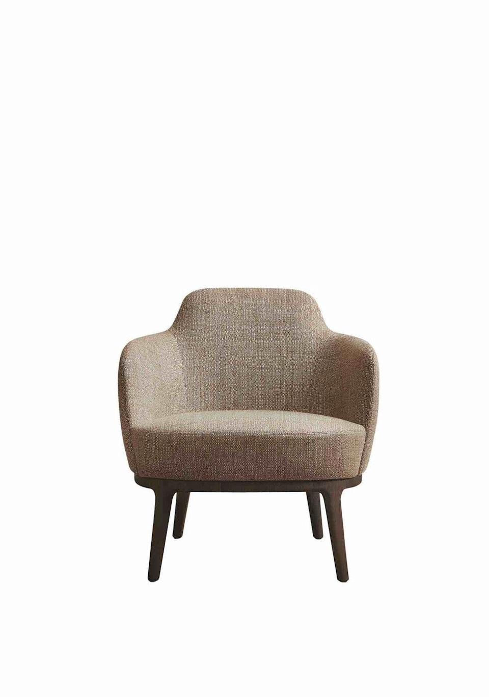 """<p>Every home office needs an upholstered occasional chair for quiet contemplation when you've got a case of writer's block or are in need of a tea break. This one by Roberto Lazzeroni is a timeless choice. £2,500, <a href=""""https://www.lemamobili.com/int/lucylle-chair-dining-armchair-stool-wooden-structure"""" rel=""""nofollow noopener"""" target=""""_blank"""" data-ylk=""""slk:lemamobili.com"""" class=""""link rapid-noclick-resp"""">lemamobili.com</a></p>"""