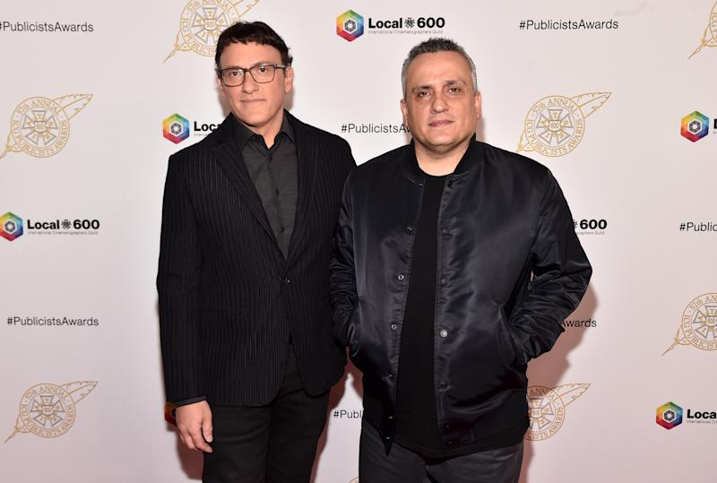 BEVERLY HILLS, CALIFORNIA - FEBRUARY 07: Anthony Russo and Joe Russo attend the 57th Annual ICG Publicists Awards at The Beverly Hilton Hotel on February 07, 2020 in Beverly Hills, California. (Photo by Alberto E. Rodriguez/Getty Images)