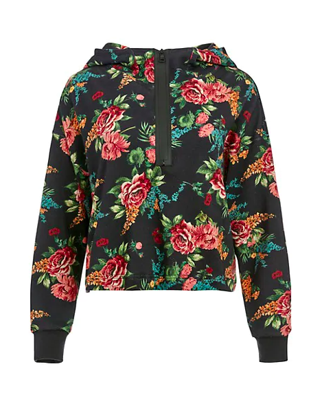 "Alice & Olivia's been leaning into athleisure lately, and we're all for it. Scoop up this moody floral sweater for days when you want to feel like you made an effort without having to sacrifice comfort. $250, Saks Fifth Avenue. <a href=""https://www.saksfifthavenue.com/product/alice-olivia-quinlan-cropped-half-zip-hoodie-0400013504174.html"" rel=""nofollow noopener"" target=""_blank"" data-ylk=""slk:Get it now!"" class=""link rapid-noclick-resp"">Get it now!</a>"
