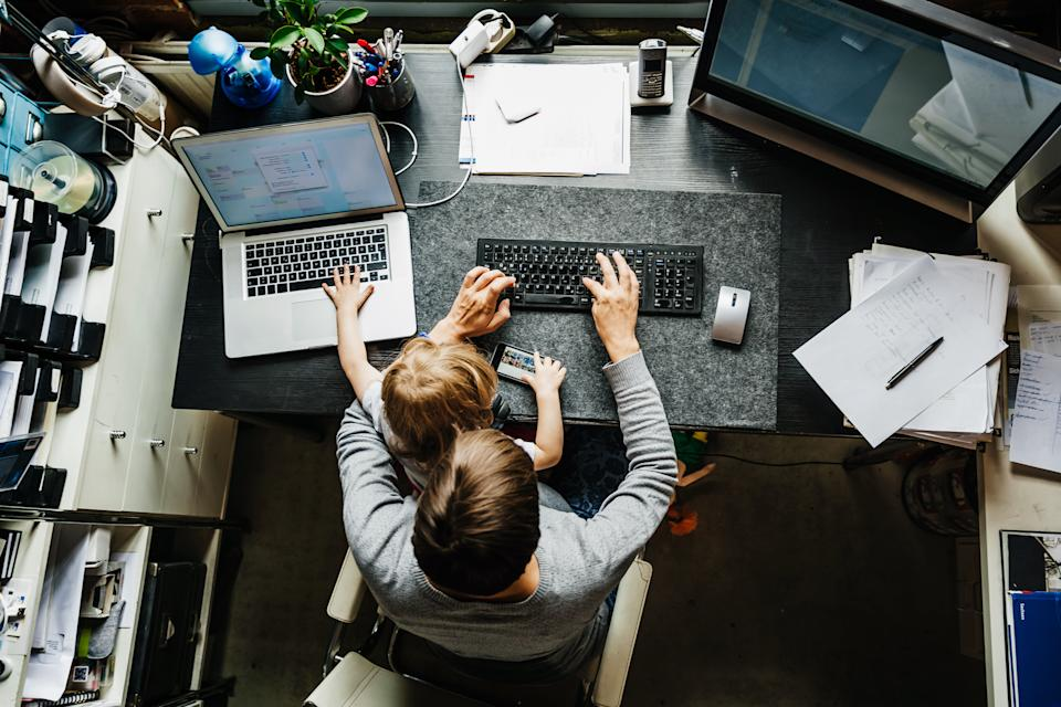 Kids are reportedly less of a distraction when working at home than social media, according to a new survey.
