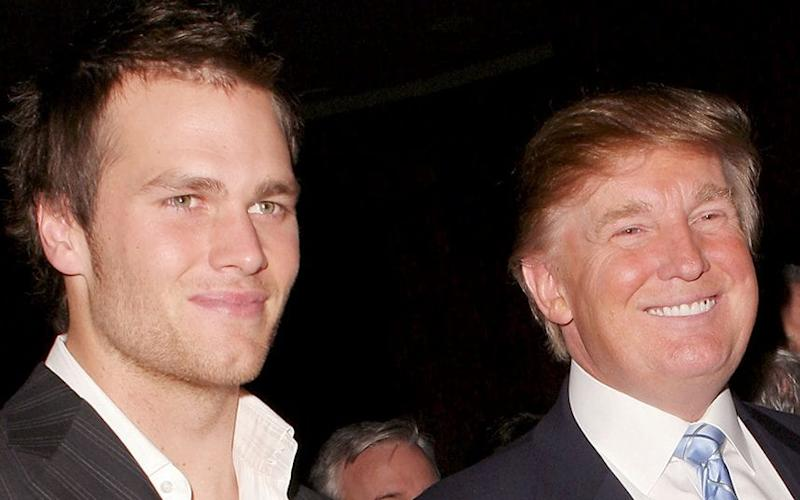 Tom Brady and Donald Trump, pictured in 2005 - Copyright (c) 2005 Rex Features. No use without permission.