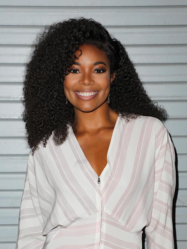 Gabrielle Union went for a curly style back in April. (Photo: Alexander Tamargo/Getty Images)