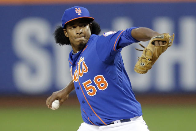 "<a class=""link rapid-noclick-resp"" href=""/mlb/teams/nym"" data-ylk=""slk:New York Mets"">New York Mets</a> reliever Jenrry Mejia had been banned since February 2016. (AP Photo/Frank Franklin II)"