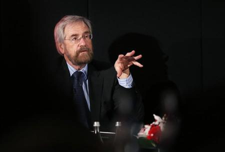 ECB Executive Board member Peter Praet speaks during a meeting organised by The Economist in Cascais