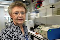 French virologist Francoise Barre-Sinoussi, in a 2017 picture at the Institut Pasteur in Paris; Barre-Sinoussi and fellow French researcher Jean-Claude Cherman were the first to identify the AIDS virus