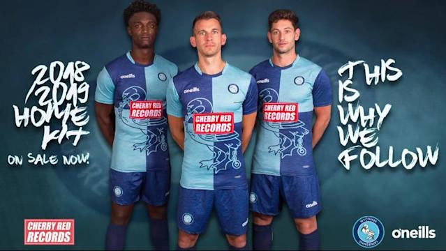 <p>It's quite hard to mess up light blue and dark blue quarters, yet Wycombe have managed it. The idea of incorporating the swan onto the kit is nice, yet it doesn't work behind a bright red block sponsor. (WWFC website) </p>