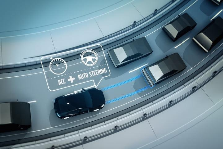 Volvo adaptive cruise control with steer assist
