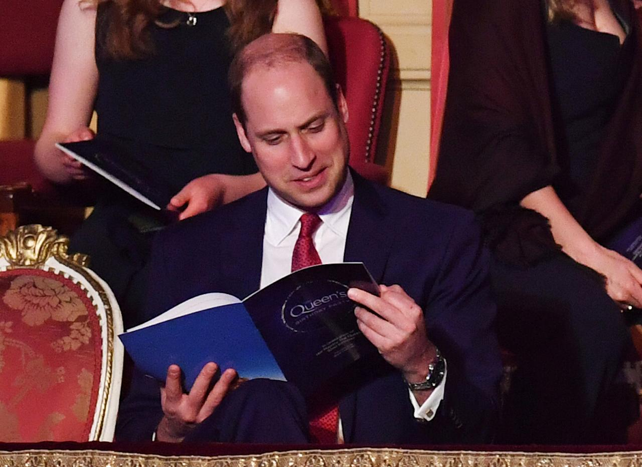 "Britain's Prince William, Duke of Cambridge, attends a special concert ""The Queen's Birthday Party"" to celebrate 92nd birthday of Britain's Queen Elizabeth at the Royal Albert Hall in London, Britain April 21, 2018.  John Stillwell/Pool via Reuters"