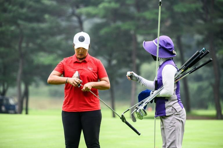 Pak Se-ri coached the South Korean women's golf team at this year's Olympics (AFP/Anthony WALLACE)