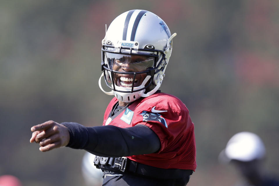 The Patriots reportedly have not reached out to former Carolina Panthers quarterback Cam Newton. (AP Photo/Gerry Broome, File)
