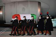 The body of the Italian ambassador killed in the Democratic Republic of Congo has arrived back in Rome