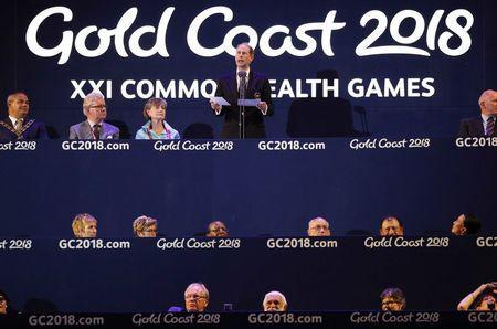 Gold Coast 2018 Commonwealth Games - Closing ceremony - Carrara Stadium - Gold Coast, Australia - April 15, 2018 - Britain's Prince Edward speaks. REUTERS/Athit Perawongmetha