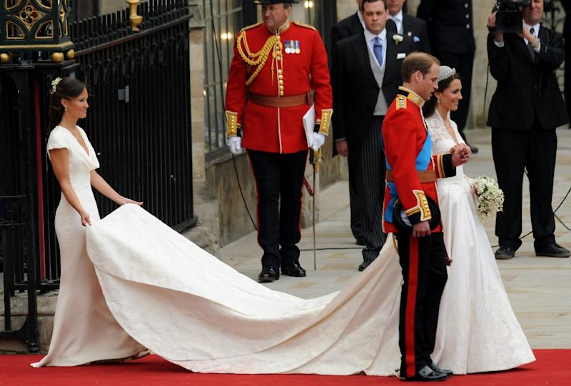 Pippa Middleton, bridesmaid for her sister Kate, Duchess of Cambridge's, marriage to Prince William, will Saturday wed financier James Matthews (AFP Photo/BEN STANSALL)