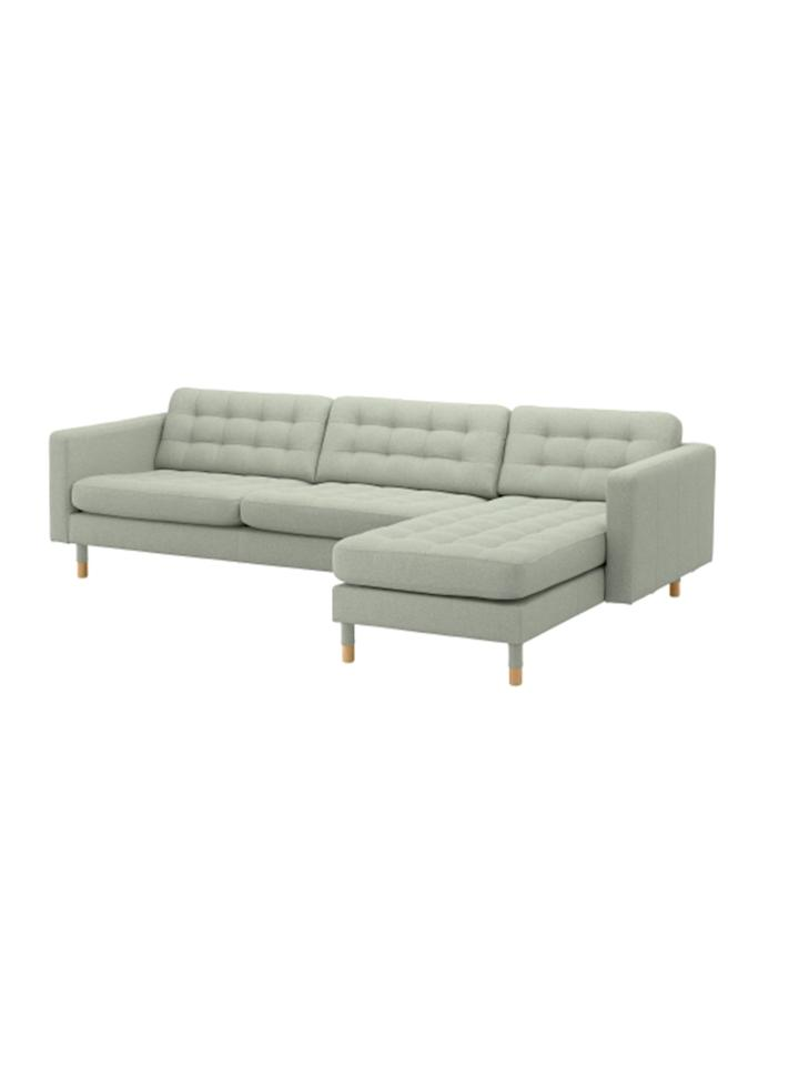 """<p>So tailored you can barely tell it's a fabric cover, the end result is a neat and modern-looking sectional sofa that can seat at least three people comfortably. For an affordable furniture piece, it's well-made, constructed with high resilience foam and polyester fiber wadding for long-lasting comfort. The cover has also been tested to resist abrasion and can handle up to 50,000 cycles. Customize the sectional even further, thanks to the removable armrests that allow you to add a chaise lounge.</p> <p><b>To buy: </b>$999, <a href=""""https://www.ikea.com/us/en/catalog/products/S79270471/#/S79270471"""" target=""""_blank"""">ikea.com</a>. </p>"""