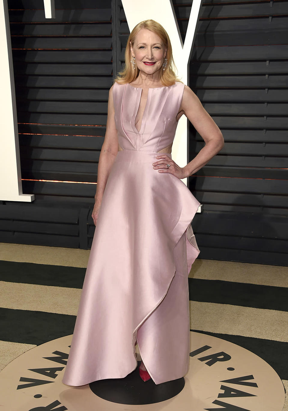 <p>Patricia Clarkson arrives at the Vanity Fair Oscar Party on Sunday, Feb. 26, 2017, in Beverly Hills, Calif. (Photo by Evan Agostini/Invision/AP) </p>