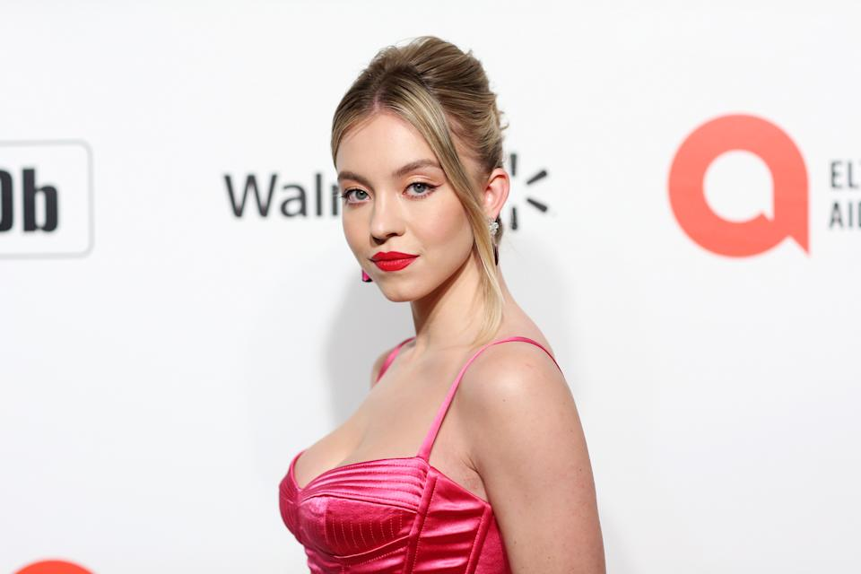 WEST HOLLYWOOD, CALIFORNIA - FEBRUARY 09: Sydney Sweeney attends the 28th Annual Elton John AIDS Foundation Academy Awards Viewing Party Sponsored By IMDb, Neuro Drinks And Walmart on February 09, 2020 in West Hollywood, California. (Photo by Phillip Faraone/FilmMagic)