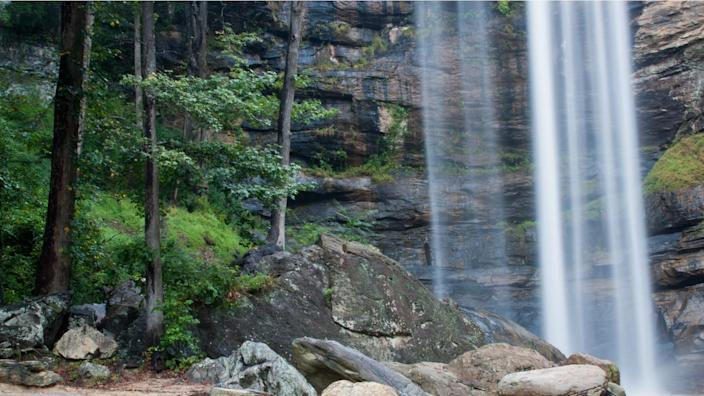 Lower section of Toccoa Falls